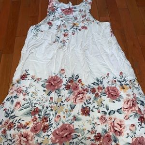 White with flower detail dress